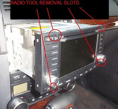 radiotoolslots how to install the audio only aux adapter in your touareg's audio 2005 vw touareg stereo wiring diagram at arjmand.co